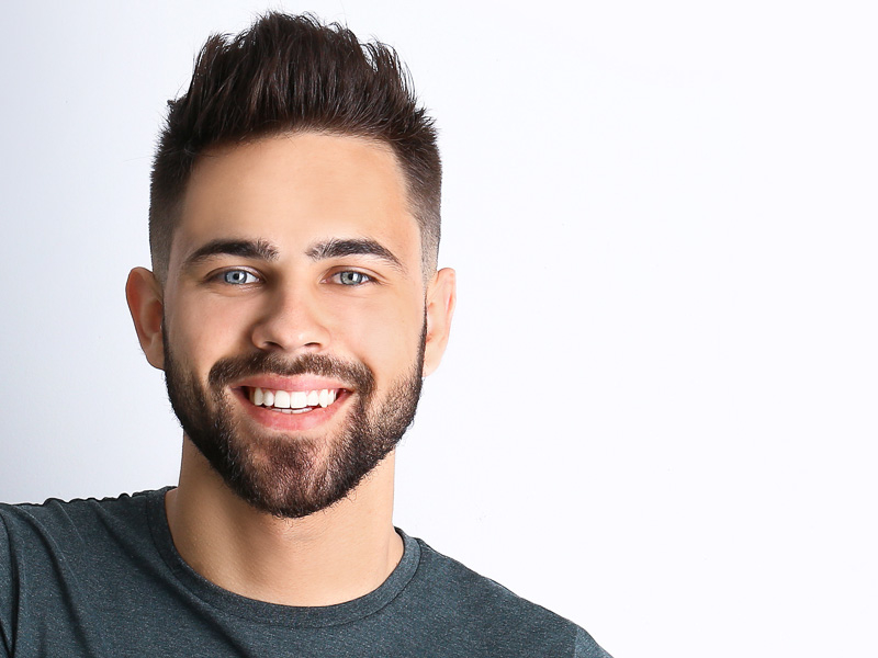 Résultats après une greffe de barbe